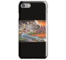 Boris the penguin versus the dinosaurs. iPhone Case/Skin