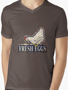 fresh eggs sign Mens V-Neck T-Shirt