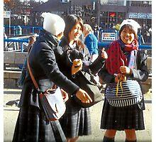 Three Teenage Girls From School Photographic Print