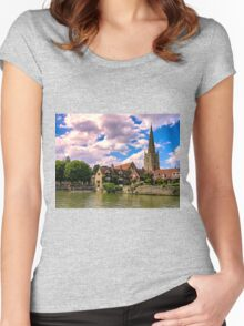 Along the Thames. Women's Fitted Scoop T-Shirt