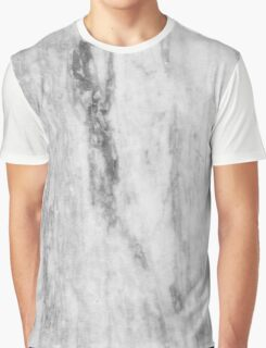 White And Gray Marble Pattern Graphic T-Shirt