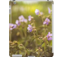 wild flowers in  light at sunset iPad Case/Skin