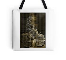 Caged Cages Beige Tote Bag