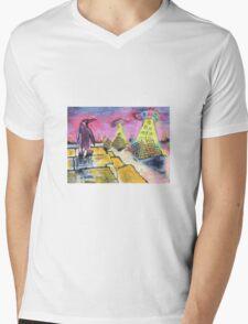 Pyramid construction Mens V-Neck T-Shirt
