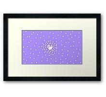 8-Bit Snow Storm Framed Print