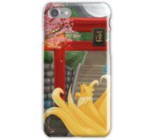 Ninetails under the Moonlight - Sakura Tree Version iPhone Case/Skin