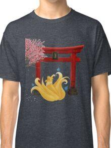 Ninetails under the Moonlight - Sakura Tree Version Classic T-Shirt