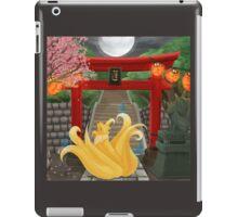 Ninetails under the Moonlight - Sakura Tree Version iPad Case/Skin