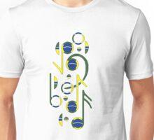 Brazil Flag Musical Notes Unisex T-Shirt