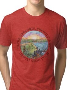 Ultra draconis, paradisus est - Hood Head Island, Washington Tri-blend T-Shirt