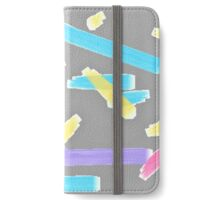 Pastel Brush Strokes iPhone Wallet/Case/Skin