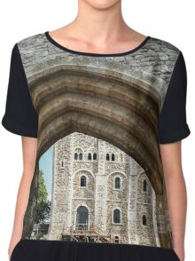 Just Beyond These Walls Chiffon Top