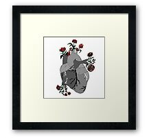 A Decaying Heart Framed Print