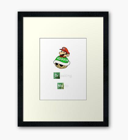 Breaking Mario Framed Print