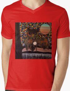 Steam punk owl Mens V-Neck T-Shirt