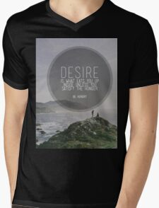 Desire Is What Eats You Up Inside Mens V-Neck T-Shirt