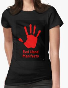 RED HAND MANIFESTO Womens Fitted T-Shirt