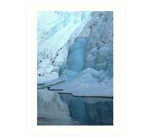 Winter At Johnston Canyon Art Print