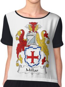 Millar Coat of Arms / Millar Family Crest Chiffon Top