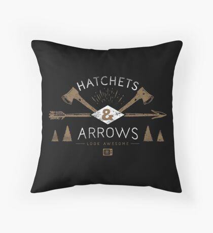 Hatchets and Arrows Look Awesome Throw Pillow