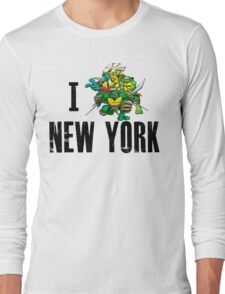 I Ninja Turtle New York - White Long Sleeve T-Shirt