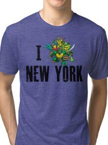 I Ninja Turtle New York - White Tri-blend T-Shirt
