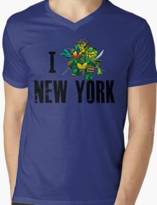 I Ninja Turtle New York - White Mens V-Neck T-Shirt