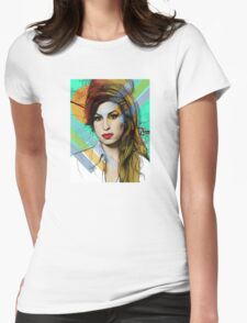 Amy Winehouse Womens Fitted T-Shirt
