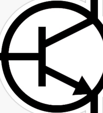 Transistor hacker sticker Sticker