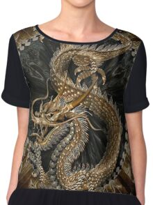 Chinese Dragon Chiffon Top