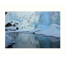 Icy Blue Reflections Art Print
