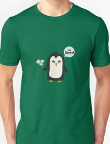 Penguin apology   Unisex T-Shirt