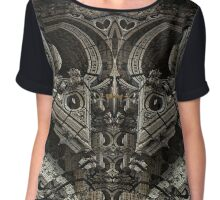 Gothic Steampunk Structure Chiffon Top