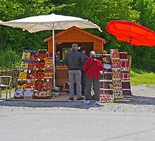 Roadside Fruit Stall, Slovenia by Margaret  Hyde