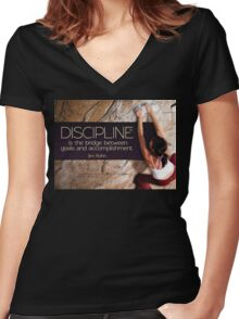 Discipline Is The Bridge Women's Fitted V-Neck T-Shirt