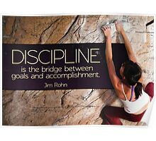 Discipline Is The Bridge Poster