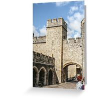 Vertical View of the Wall Greeting Card