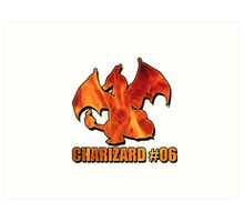 Charizard #06 Fire T-Shirt and other products Art Print