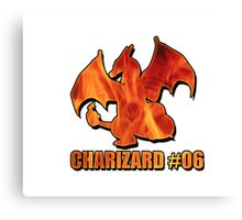 Charizard #06 Fire T-Shirt and other products Canvas Print