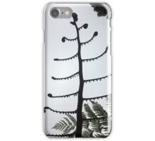 Silver Fern koru silhouette iPhone Case/Skin