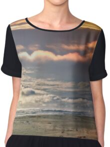 Dreaming Of My Fairytale On The Beach In Oregon Chiffon Top