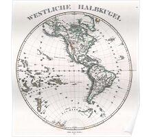 Vintage Western Hemisphere Map (1873) Poster