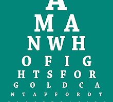 Daenerys Targaryen, Eye Chart by Alex Boatman