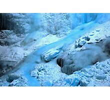 Banff Blue Ice Flow Photographic Print