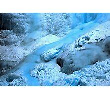 Banff Blue Ice Flow Photographic Print