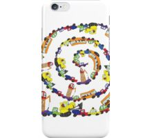 Child's hand draw cars.Funny Doodle spiral composition iPhone Case/Skin