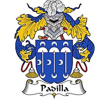 Padilla Coat of Arms/Family Crest Photographic Print