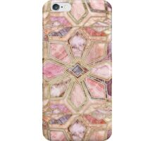 Geometric Gilded Stone Tiles in Blush Pink, Peach and Coral iPhone Case/Skin