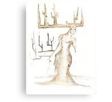 Dryad #1 - Watercolor Painting Canvas Print