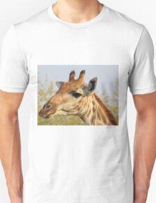 Giraffe - African Wildlife Background - Colorful Solitude Unisex T-Shirt